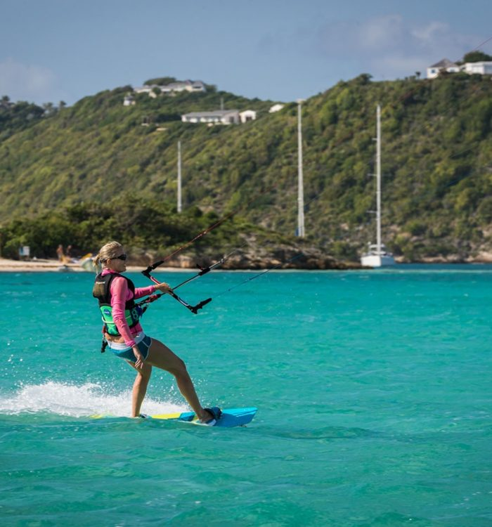 Advance kitesurf lesson in Antigua