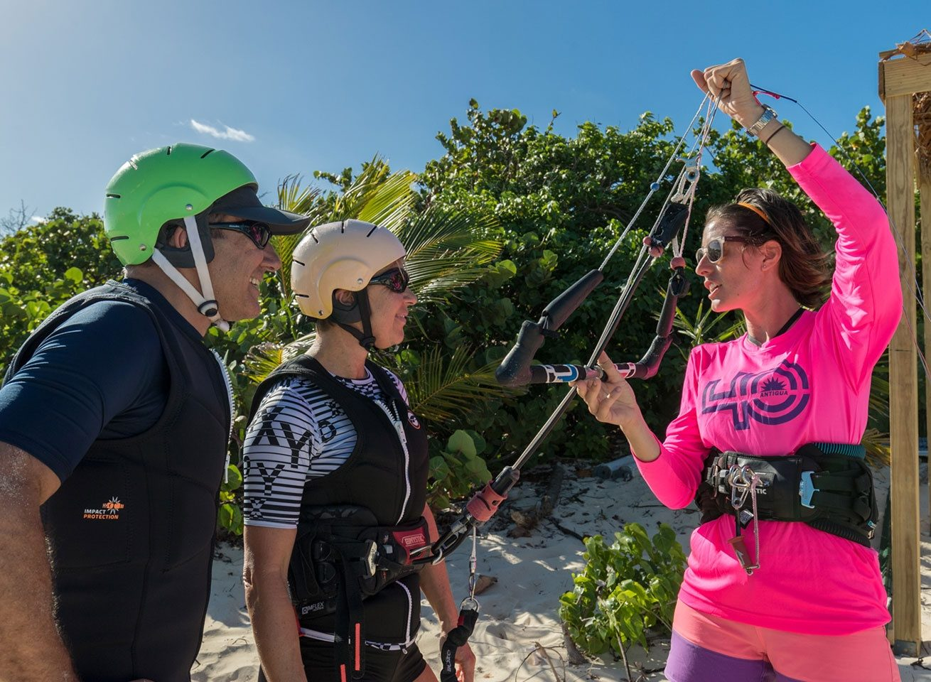 kitesurf lesson at green island for beginners