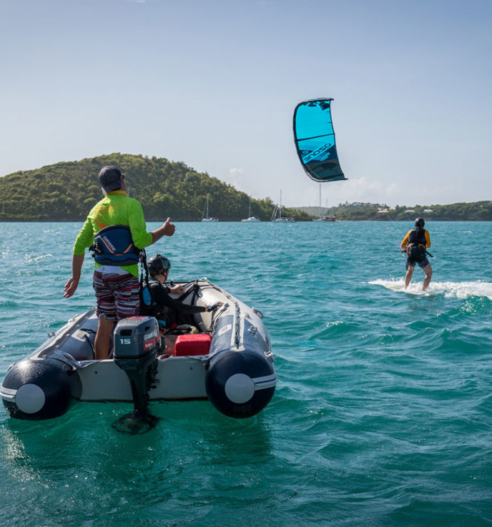 kitesurf lesson in antigua - get going
