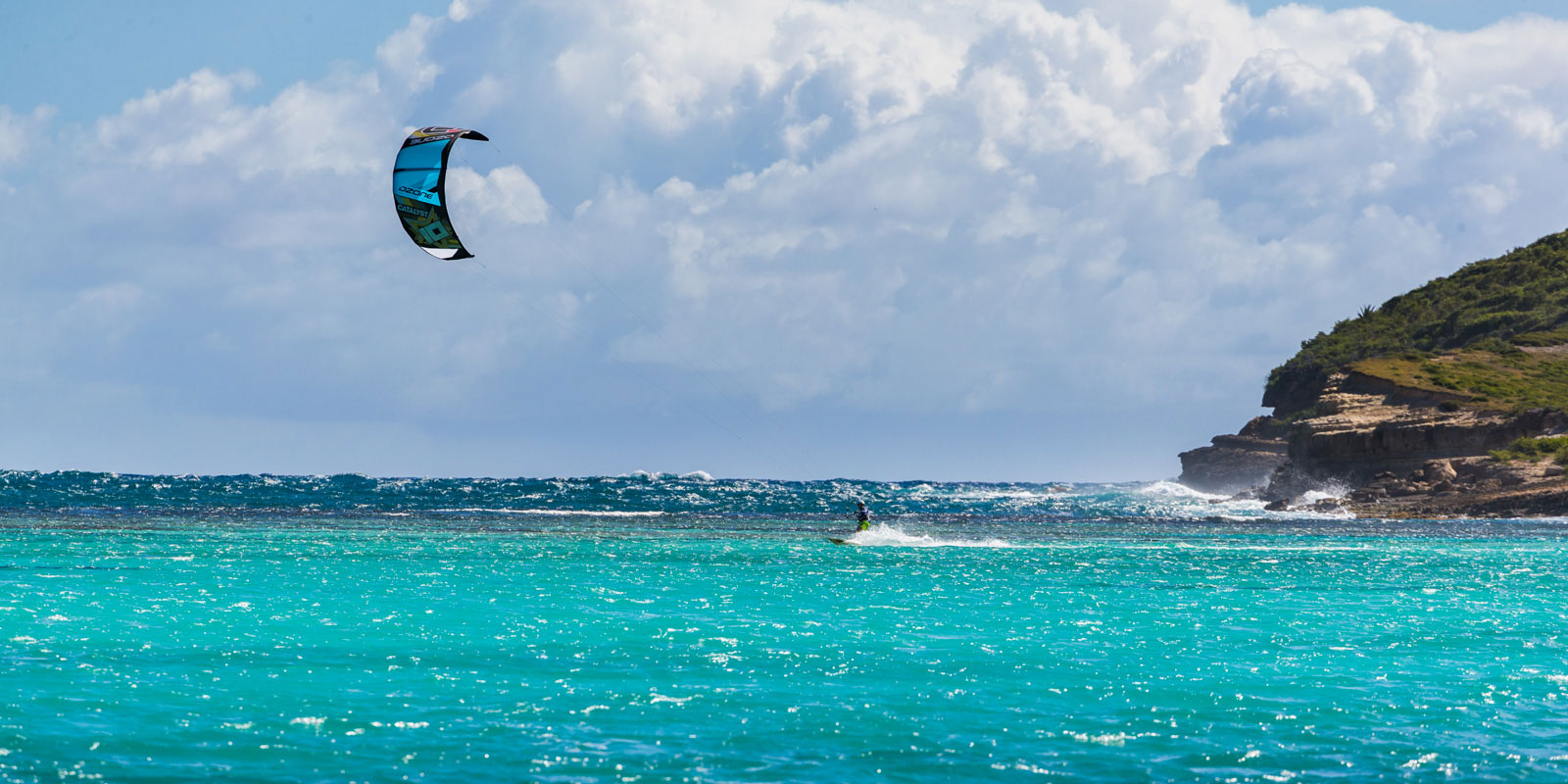 kitesurfing at green island