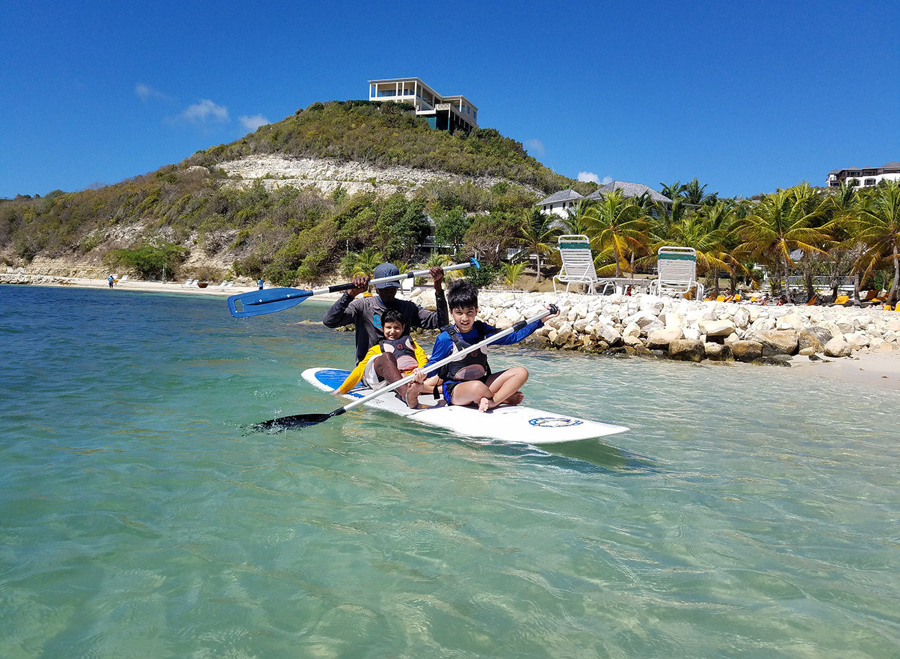 sup lesson for kids in the caribbean