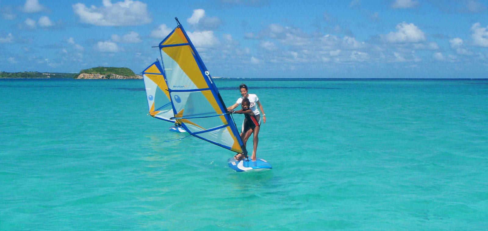 windsurfing in antigua at 40knots