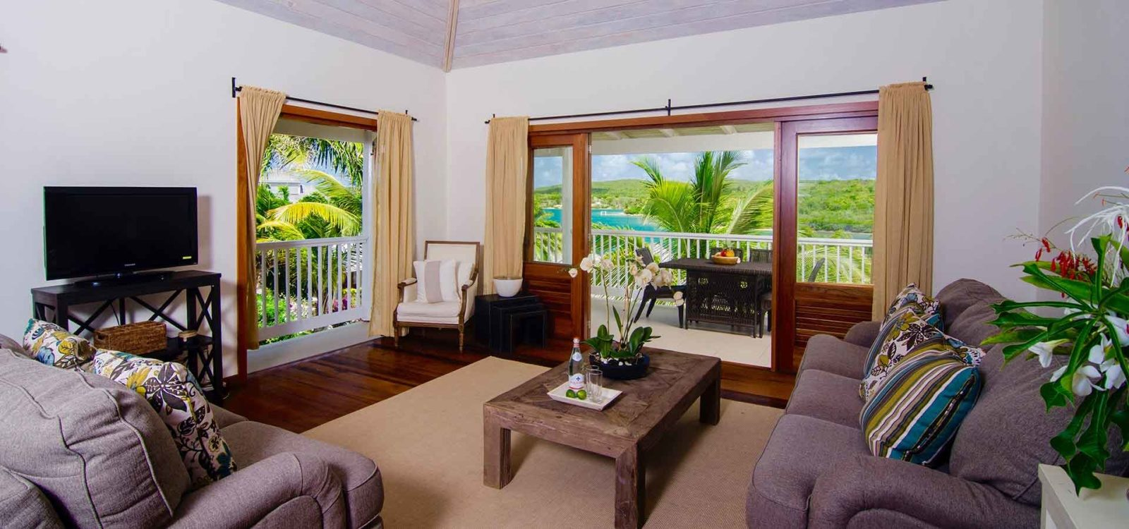 interior of a suite in nonsuch bay resort